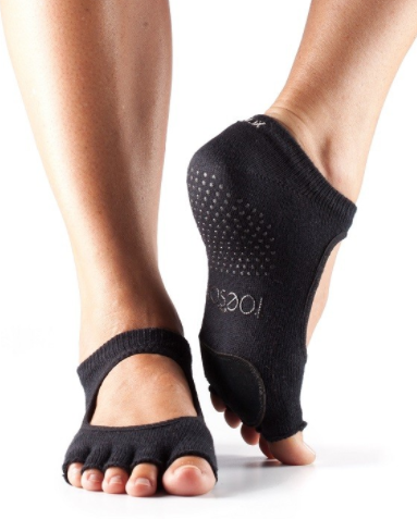 half toe plie barre socks